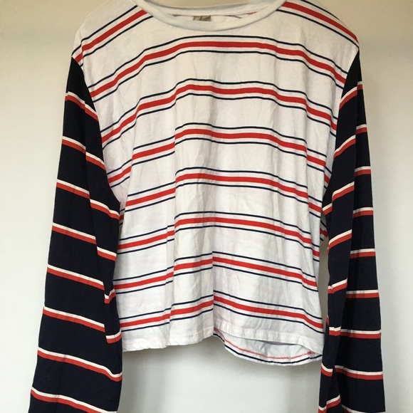 3f093cc1 ASOS Curve Tops - ASOS Curve Striped Bell Sleeve Long Sleeve Top
